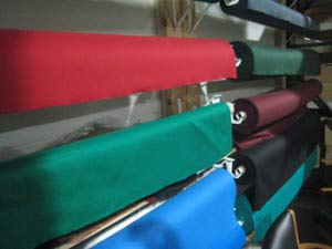 Pool table refelting cloth in Asheville